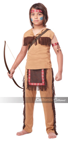 Native American Brave in Packaged Costumes from CALIFORNIA at Buffalo Breath Costumes