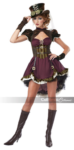 Steampunk Girl in Packaged Costumes from CALIFORNIA at Buffalo Breath Costumes