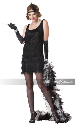 Fashion Flapper Black in Packaged Costumes from CALIFORNIA at Buffalo Breath Costumes