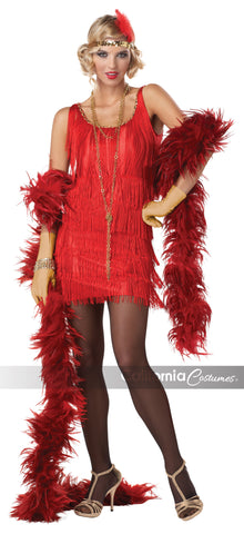 Fashion Flapper Red in Packaged Costumes from CALIFORNIA at Buffalo Breath Costumes