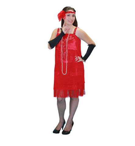 Deco Red Flapper in Theatrical Costumes from BuffaloBreath at Buffalo Breath Costumes