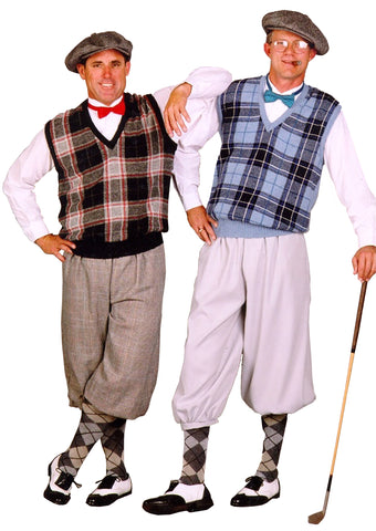 Old Time Golfer costume rental or purchase at Buffalo Breath Costumes in San Diego