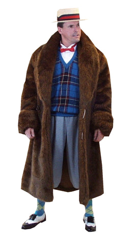 Raccoon Coat 1920's deluxe costume rental or purchase at Buffalo Breath Costumes in San Diego