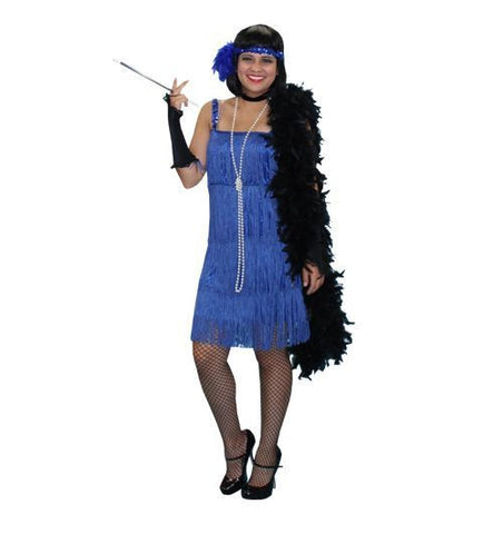 Classic roaring twenties flapper dress costume rental or purchase at Buffalo Breath Costumes in San Diego