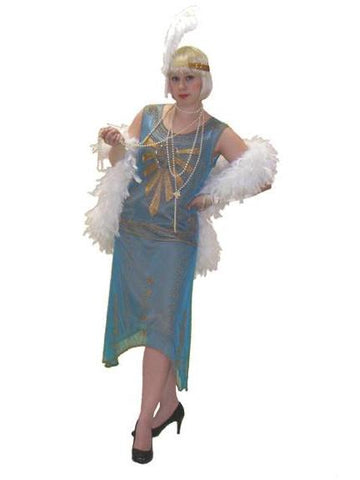 1920s High Society Gatsby Flapper dress costume rental or purchase at Buffalo Breath Costumes