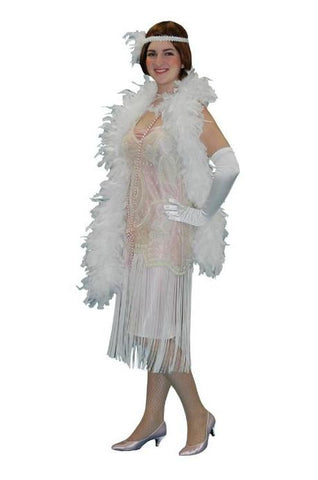 Deluxe White Beaded High Society in Theatrical Costumes from BuffaloBreath at Buffalo Breath Costumes