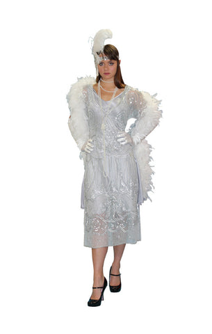 Deluxe Silver Beaded High Society in Theatrical Costumes from BuffaloBreath at Buffalo Breath Costumes