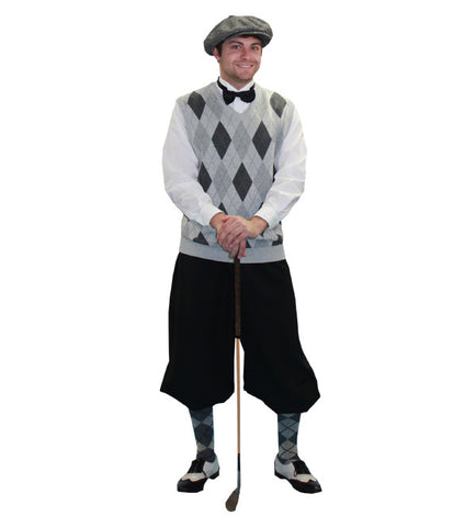 Old Time Golfer (grey/black) in Theatrical Costumes from BuffaloBreath at Buffalo Breath Costumes