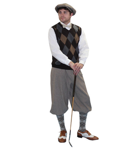 Old Time Golfer (brown/tan) in Theatrical Costumes from BuffaloBreath at Buffalo Breath Costumes