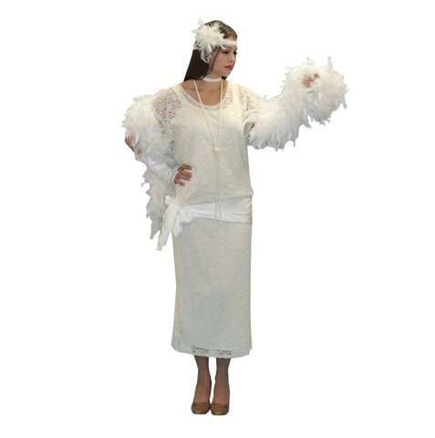 Great Gatsby White Lace Dress in Theatrical Costumes from BuffaloBreath at Buffalo Breath Costumes