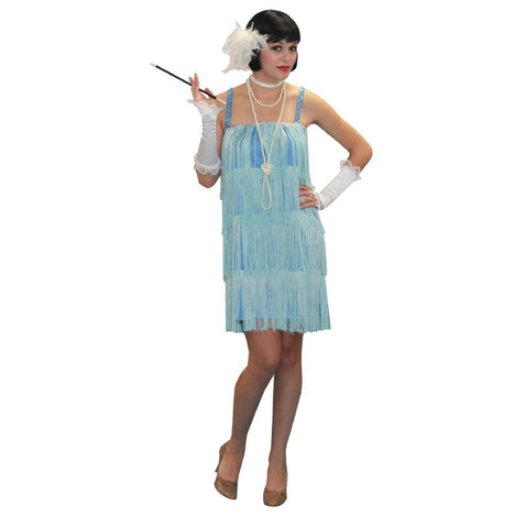 Flapper Baby Blue costume rental or purchase at Buffalo Breath Costumes