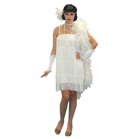 Flapper White in Theatrical Costumes from BuffaloBreath at Buffalo Breath Costumes