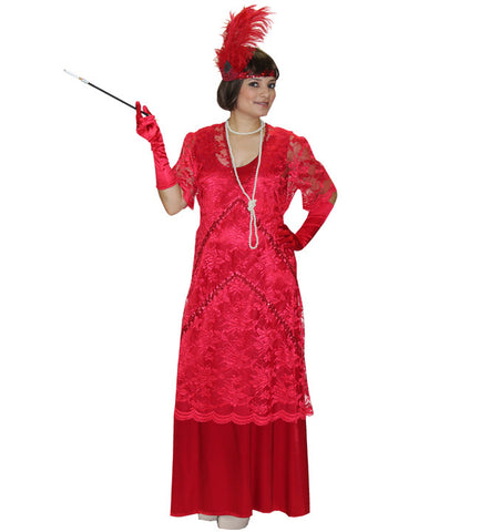 Great Gatsby Red Lace Dress in Theatrical Costumes from BuffaloBreath at Buffalo Breath Costumes