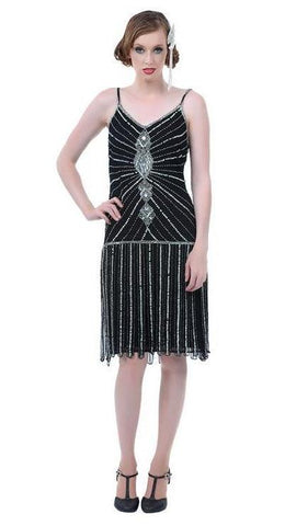 Speakeasy 1920's flapper dress costume rental or purchase at Buffalo Breath Costumes in San Diego