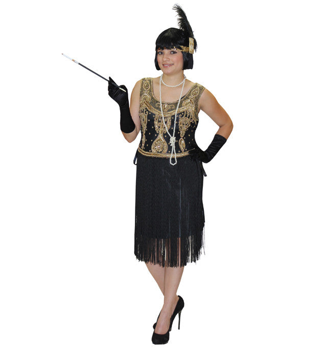 410a7d0c74f Deluxe · Plus Sizes · Twenties · High Society Black and Gold in Theatrical  Costumes from BuffaloBreath at Buffalo Breath Costumes