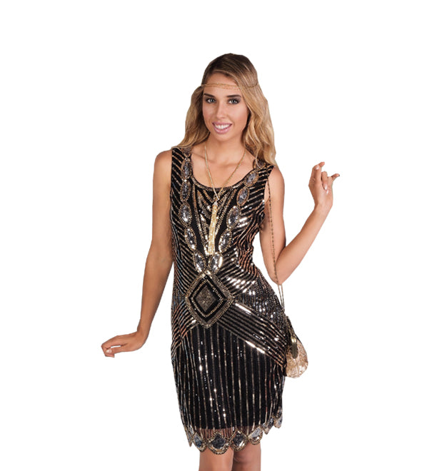 1920's Sequined Flapper Costume for rent from Buffalo Breath Costumes