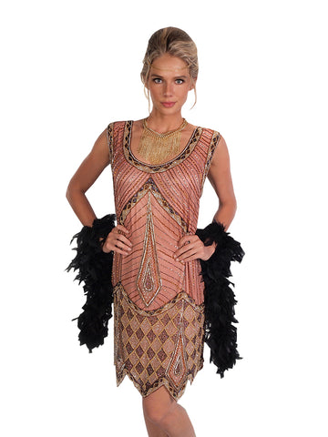 1920s Gatsby Flapper dress costume rental at Buffalo Breath Costumes