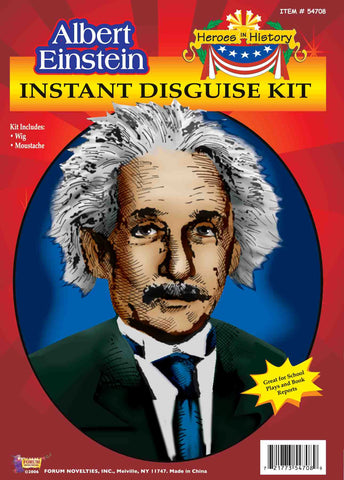 Einstein Wig & Mustache Set in Accessories from FORUM at Buffalo Breath Costumes