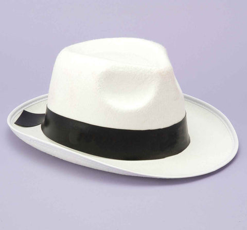 Gangster Fedora White in Accessories from FORUM at Buffalo Breath Costumes