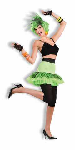 Let's Have Fun Skirt-Neon Green in Packaged Costumes from FORUM at Buffalo Breath Costumes