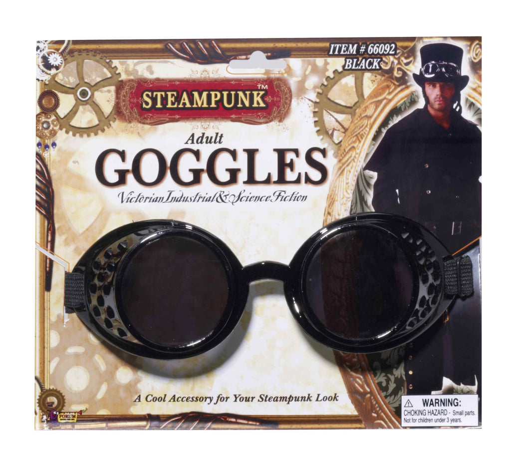 Steampunk Goggles Black in Accessories from FORUM at Buffalo Breath Costumes