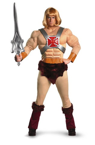 He-Man Classic Muscle Adult in Packaged Costumes from DISGUISE at Buffalo Breath Costumes