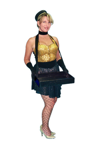 Retro Cigarette Girl costume rental at Buffalo Breath Costumes in San diego