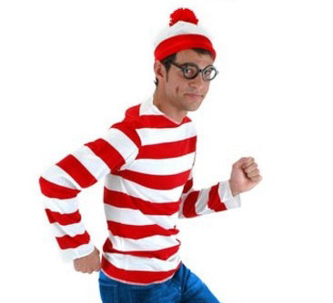 Where's Waldo? costume by Elope 400234, 400236 at Buffalo Breath Costumes