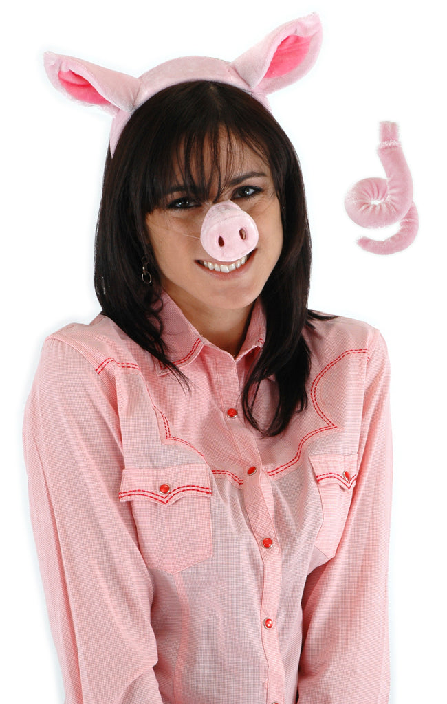 Pig Accessory Kit - ears, nose, & tail  by Elope 423000 at Buffalo Breath Costumes
