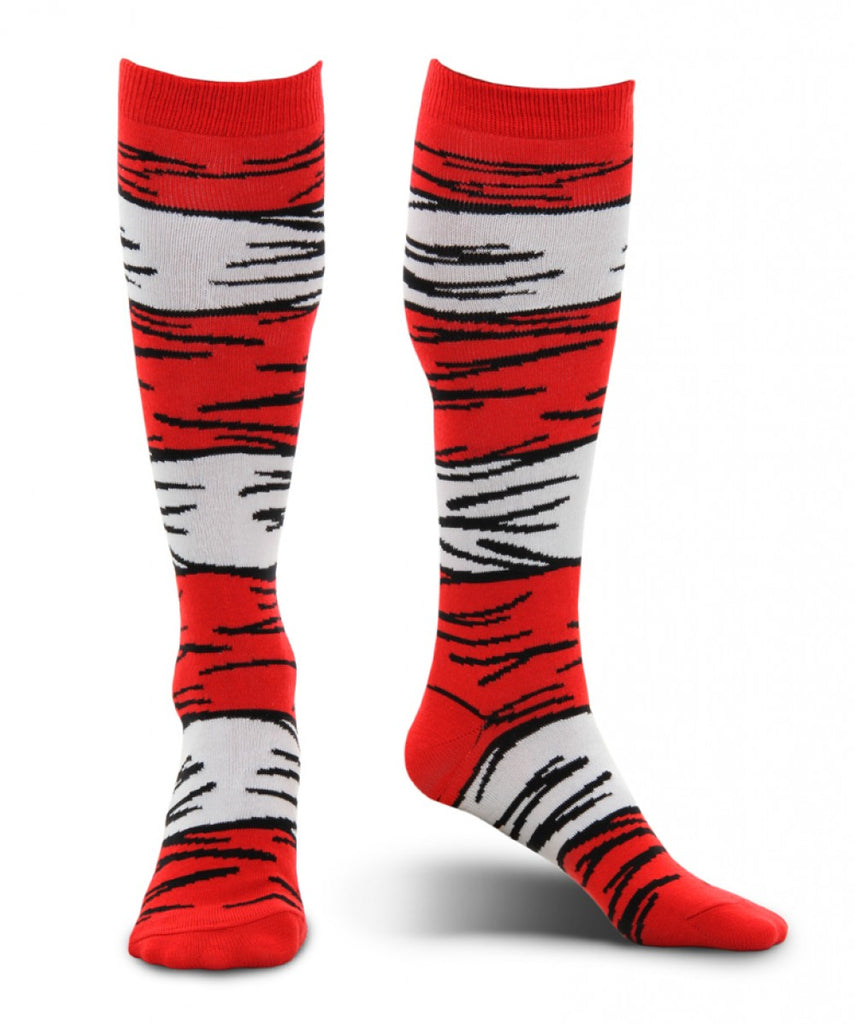 Dr. Seuss the Cat in the Hat costume socks by Elope 430040 at Buffalo Breath Costumes