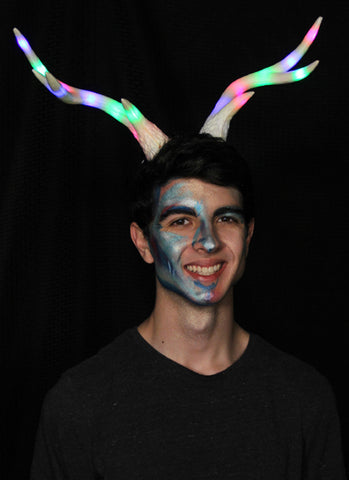LumenHorns Light-Up LED Multicolor Deer Antlers by Elope 433683 at Buffalo Breath Costumes