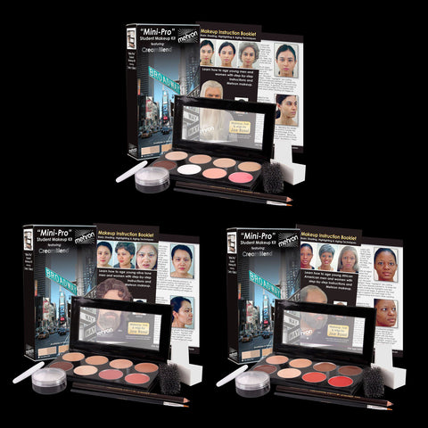 Mini-Pro Student Makeup Kits featuring CreamBlend
