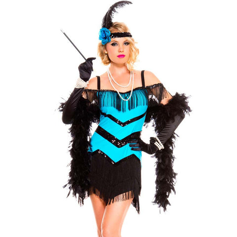 Seductive Flapper in Packaged Costumes from MUSICLEGS at Buffalo Breath Costumes