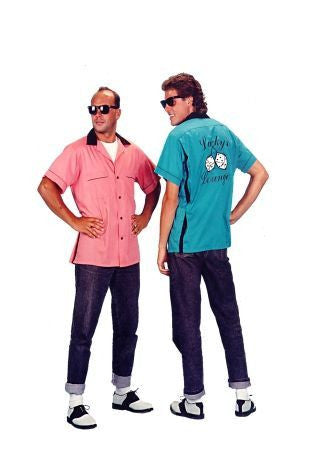 Bowling Shirt Pink or Blue in Theatrical Costumes from BuffaloBreath at Buffalo Breath Costumes