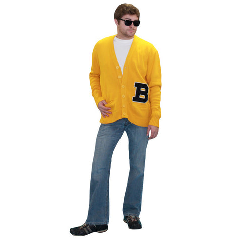 Yellow Letterman Sweater in Theatrical Costumes from BuffaloBreath at Buffalo Breath Costumes