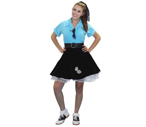1950's Lucky Dice Mini Skirt in Theatrical Costumes from BuffaloBreath at Buffalo Breath Costumes
