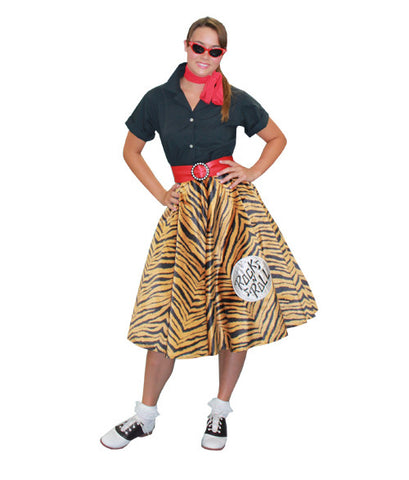 Rock n Roll (Tiger Skirt) in Theatrical Costumes from BuffaloBreath at Buffalo Breath Costumes