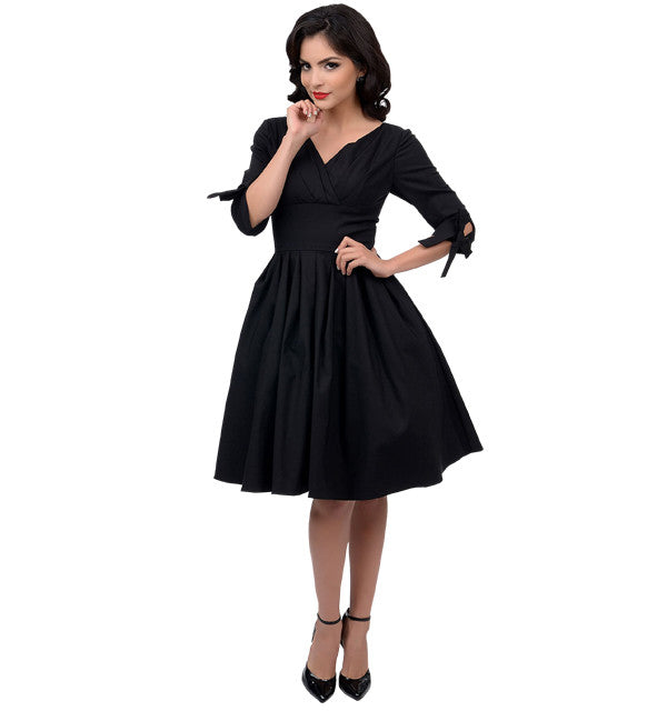 1950's Diana Swing Black Dress in Theatrical Costumes from BuffaloBreath at Buffalo Breath Costumes