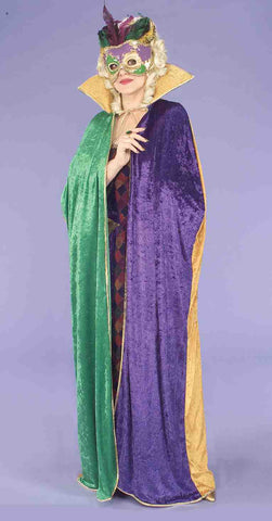 Mardi Gras Cape by Forum Novelties at Buffalo Breath Costumes