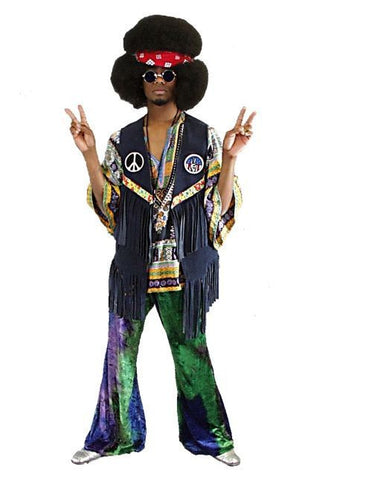 Male Hippie with Fringe Vest in Theatrical Costumes from BuffaloBreath at Buffalo Breath Costumes