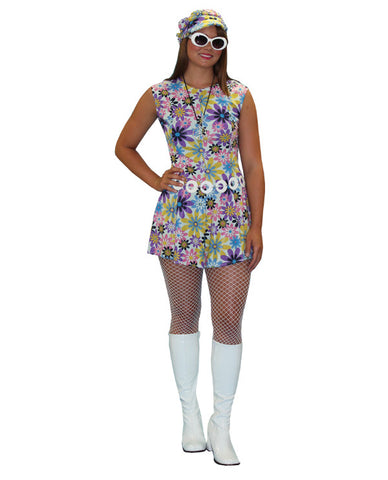 Go-Go Multi Colored Floral Dress in Theatrical Costumes from BuffaloBreath at Buffalo Breath Costumes