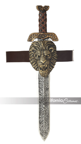Roman Sword with Gold Lion Sheath