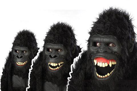 Goin' Ape - Gorilla Ani-Motion Mask by California Costumes #60516 at Buffalo Breath Costumes