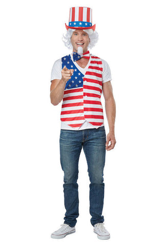 Patriot Man Uncle Sam costume kit by California Costumes #60689 at Buffalo Breath Costumes