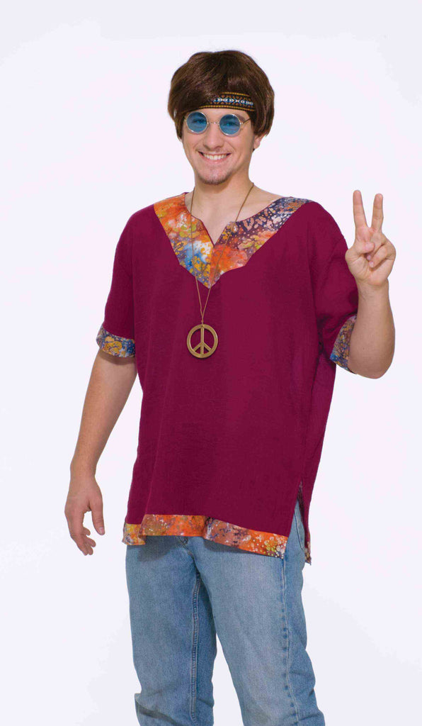 Groovy Shirt male hippie by Forum Novelties #61936, 62094 at Buffalo Breath Costumes