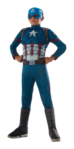Captain America child size superhero costume by Rubie's 620951 at Buffalo Breath Costumes
