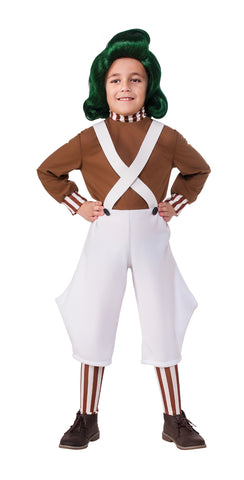 Willy Wonka & the Chocolate Factory Oompa Loompa costume for kids by Rubie's 620934 at Buffalo Breath Costumes