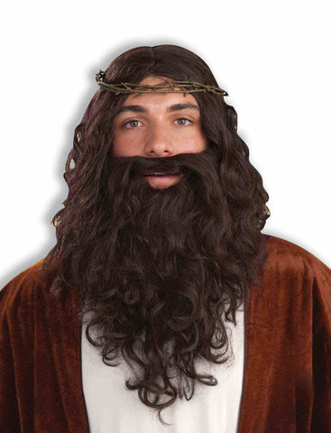 Jesus Wig, Crown, and Beard Set by Forum Novelties #63944 at Buffalo Breath Costumes