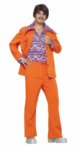 70's Leisure Vest in orange by Forum Novelties at Buffalo Breath Costumes
