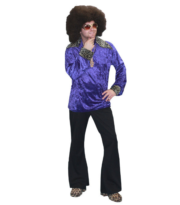 Purple Disco Fever Male in Theatrical Costumes from BuffaloBreath at Buffalo Breath Costumes
